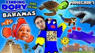 getlinkyoutube.com-FINDING DORY in BAHAMAS! Minecraft FGTEEV Boys @ Atlantis Resort Hotel Water Slide Map w/ Nemo,Shark
