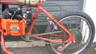 getlinkyoutube.com-Homemade Chainsaw Bike ( Not Friction)