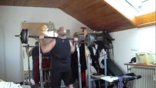 """MILITARY PRESS"" 212 LBS 96 KG x 3 ONLY MUSCLE POWER NO SWINGING"