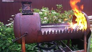 getlinkyoutube.com-Как сделать мангал из газового баллона своими руками