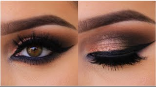 getlinkyoutube.com-Bronze Smokey Cat Eye Tutorial