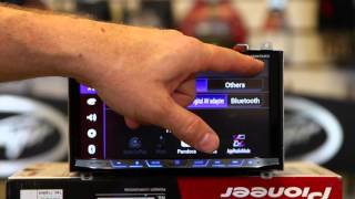 getlinkyoutube.com-How to use Waze on a Pioneer's AVH 4100NEX Multi Media Radio