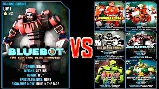 getlinkyoutube.com-Real Steel WRB Bluebot VS UW I Series of fights NEW ROBOT (Живая Сталь)