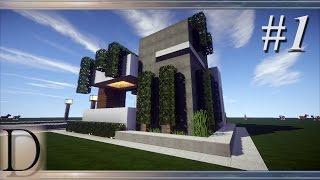 getlinkyoutube.com-MINECRAFT PORADNIK - Jak zbudować fajny domek modern 14x14 # 1