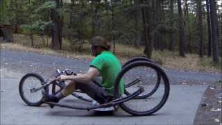 getlinkyoutube.com-G.P.V. (Gravity Powered Vehicle) off-road, soap box, three wheeler, made with bike parts