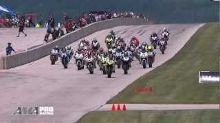 AMA Pro Motorcycle-Superstore.com Supersport - Road America Race 1 Highlights