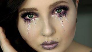 getlinkyoutube.com-Glitter Tears Eye Makeup Tutorial   Jordan Hanz