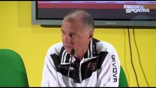 Messina-Salernitana 4-2. Il tecnico ospite Menichini dopo il ko del San Filippo