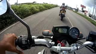 getlinkyoutube.com-Fazer 250 vs Twister 250 Top speed Intenso 153Km/