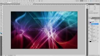 getlinkyoutube.com-Photoshop tutorial: Custom Glowing Abstract Desktop Wallpaper 2.0 [2011]