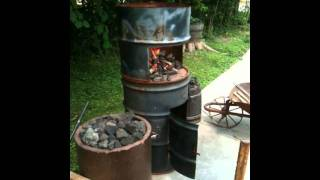getlinkyoutube.com-Homemade Forge and Anvil Setup