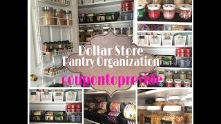getlinkyoutube.com-Pantry Organization Ideas on a Budget| Dollar Store and Repurposed Products | July 2016