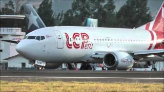 getlinkyoutube.com-Boeing 737-500 LCPerú en Cajamarca