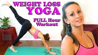 getlinkyoutube.com-Weight Loss Yoga For Beginners. Full Body At Home 1 Hour Workout & Yoga Class
