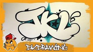 getlinkyoutube.com-Graffiti Alphabet Tutorial - How to draw Graffiti Bubble Letters J to L