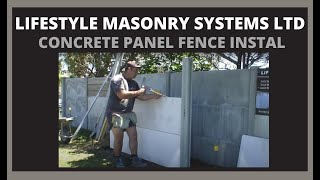 getlinkyoutube.com-Concrete Fence Install - LMS50