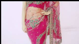 getlinkyoutube.com-How To Drape Net Saree - How To Wear Party Saree / Sari Wraping Tutorial