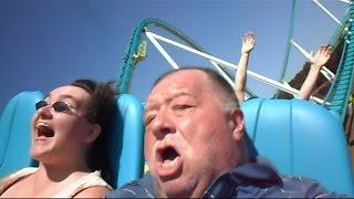 getlinkyoutube.com-Millenniumforce & Redneck Woman Take On The Fury 325 Rollercoaster