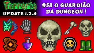 getlinkyoutube.com-Lutando contra o Dungeon Guardian, Bone Key e Pet Caveira - Terraria 1.2 #58 PT BR