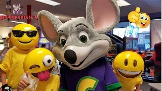 getlinkyoutube.com-Emoji Go To Chuck E Cheese Where A Kid Can Be A Kid Family Fun Indoor Games and Activities for kids