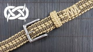 getlinkyoutube.com-How to make a Rattlerstrap Wide Solomon Paracord Belt