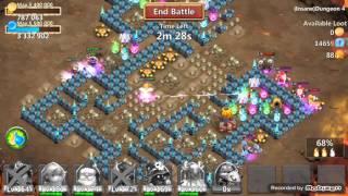 getlinkyoutube.com-Insane Dungeon 4-10 3 Flame Castle Clash