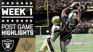 Raiders vs. Saints   NFL Week 1 Game Highlights