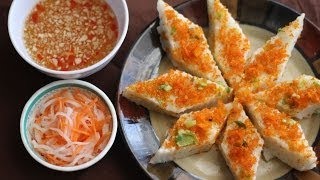 getlinkyoutube.com-Banh Duc Tom Chay (Steamed Rice Coconut Cake with Dried Shrimp)
