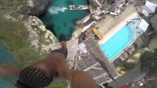 getlinkyoutube.com-Spider - Cliff Diving at Rick's Cafe, Negril, Jamaica