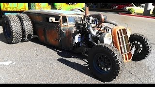"getlinkyoutube.com-Welderup  ""Train Car"" Dually Rat Rod SEMA 2015"