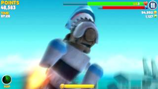getlinkyoutube.com-Hungry Shark Evolution: Robo Shark #3