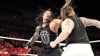 getlinkyoutube.com-Roman Reigns, Randy orton,Dean Ambrose Vs The Wyatt Family (5 october 2015)