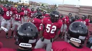 "getlinkyoutube.com-Pre Game Team Chants Eaglecrest Raptors Football ""We Ready"""