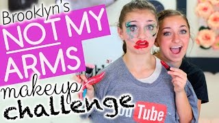 getlinkyoutube.com-Brooklyn's Not-My-Arms Makeup Challenge!