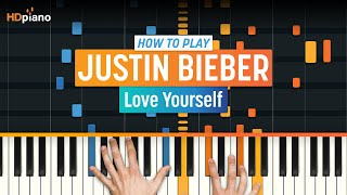 "getlinkyoutube.com-How To Play ""Love Yourself"" by Justin Bieber 