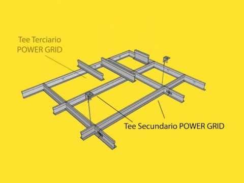 Falso cielo raso modular suspendido (techo acústico)