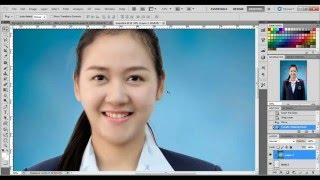 getlinkyoutube.com-Photoshop : เปลี่ยนฉากหลังภาพติดบัตรแบบด่วน