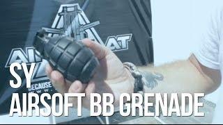 getlinkyoutube.com-SY Airsoft BB Metal Gas Hand Grenade - AirSplat On Demand