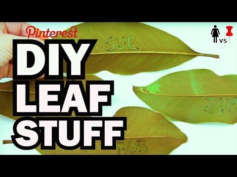 DIY Leaf Stuff - Corinne Vs Pin #33
