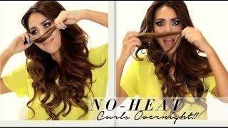 getlinkyoutube.com-★ Seriously EASY NO-HEAT CURLS Hairstyle & WEN 1st-Impression | SCHOOL HAIRSTYLES
