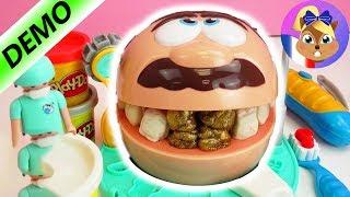 getlinkyoutube.com-Le Dentiste travaille avec de la pâte à modeler Play Doh et fait des dents (Français)