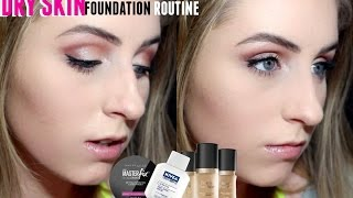 getlinkyoutube.com-BEST DRY SKIN FOUNDATION ROUTINE Too Faced Born This Way