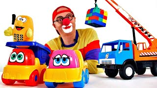 getlinkyoutube.com-Videos for Kids - LEGO Car Clown CLONE! Children's Toy Trucks Videos (автомобиль клоун)