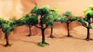 getlinkyoutube.com-Diorama (parte 2) Árvores - Miniature (part 2) Trees