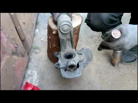 Замена переднего ступичного подшипника гидравлическим домкратом опель вектра а, кадет, сенс, ланос