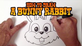 getlinkyoutube.com-How to Draw a Bunny Rabbit - Step by Step Video