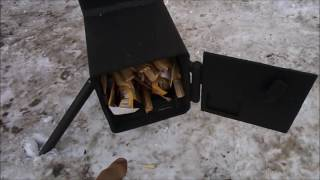 getlinkyoutube.com-Печь гараж- сарай, нового поколения.