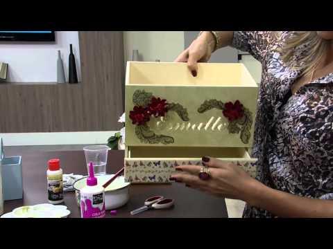 Mulher.com 07/08/2014 - Caixa Esmaltes Scrapdecor por Mamiko Yamashita - Parte 2