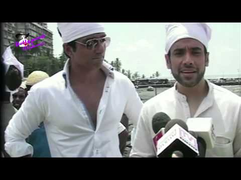 Tusshar & Sonu Sood at after release promotion of ''Shoot Out At Wadala' at Haji Ali