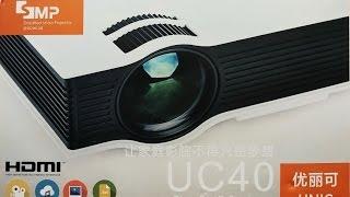 getlinkyoutube.com-Посылка Из Китая: Проектор UC40, EasyCast OTA HDMI